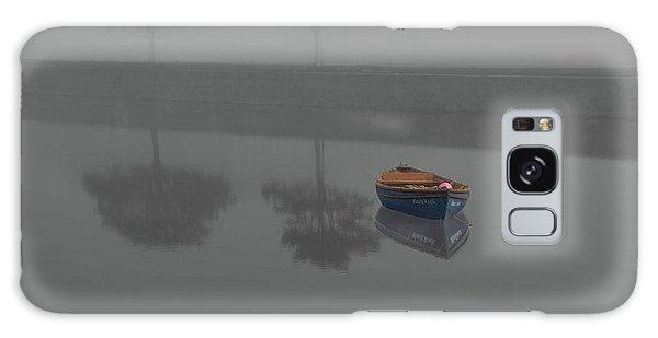 Blue Boat In Fog Galaxy Case
