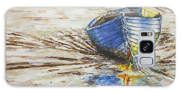 Blue Boat Galaxy Case by Marty Garland