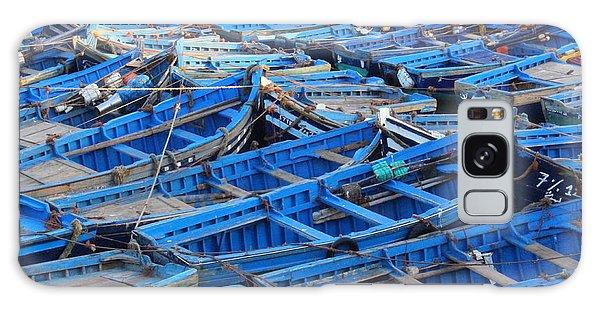 Galaxy Case featuring the photograph Blue Boats Of Essaouira by Ramona Johnston