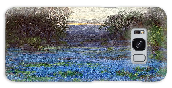 Blue Bonnet Meadows Galaxy Case