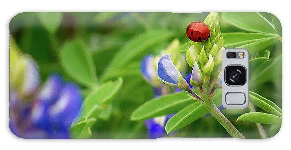 Texas Blue Bonnet And Ladybug Galaxy Case