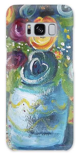 Blue Bouquet Galaxy Case