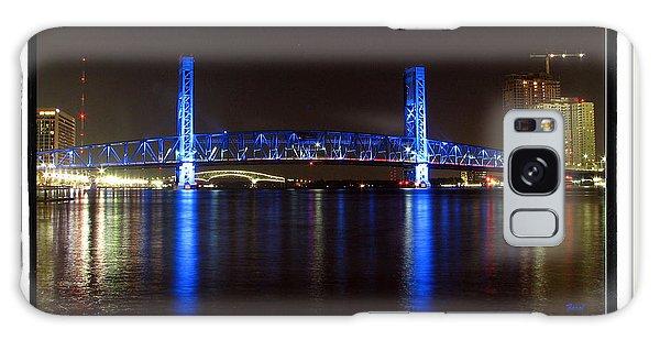 Blue Bridge Of Jacksonville Galaxy Case by Farol Tomson