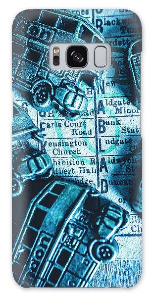 Pendant Galaxy Case - Blue Britain Bus Bill by Jorgo Photography - Wall Art Gallery
