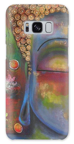 Buddha In Blue Meditating  Galaxy Case