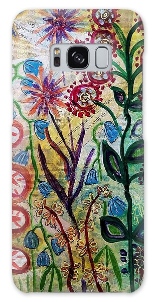Blue Bug In The Magic Garden Galaxy Case by Mimulux patricia no No