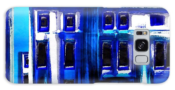Blue Buildings Galaxy Case