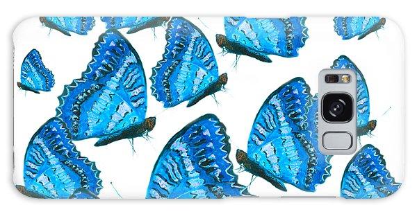 Iridescent Galaxy Case - Blue Butterflies by Jan Matson