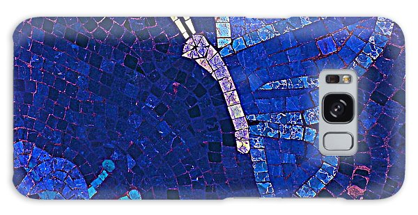 Blue Butterfly And Flower Galaxy Case