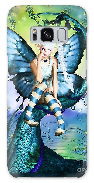 Blue Butterfly Fairy In A Tree Galaxy Case
