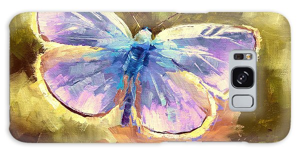 Iridescent Galaxy Case - Blue Butterfly by Melissa Herrin