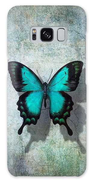 Tranquil Galaxy Case - Blue Butterfly Resting by Garry Gay
