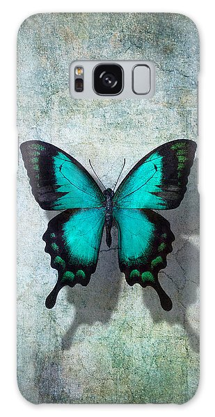 Bright Galaxy Case - Blue Butterfly Resting by Garry Gay