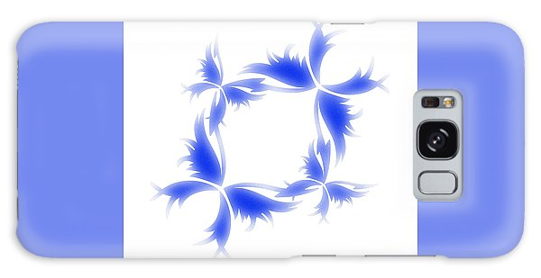 Blue Butterfly Wreath Galaxy Case by Christine Perry