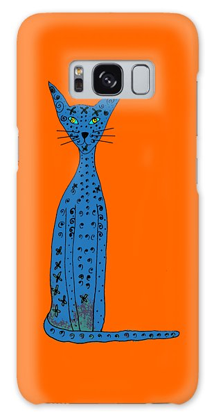 Blue Cat Galaxy Case