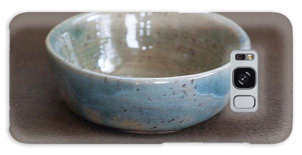 Blue Ceramic Drippy Bowl Galaxy Case by Suzanne Gaff