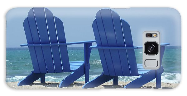 Galaxy Case featuring the photograph Blue Chairs by Frank DiMarco