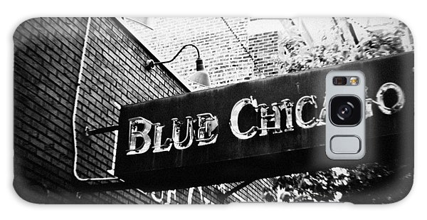 Galaxy Case featuring the photograph Blue Chicago Nightclub by Kyle Hanson