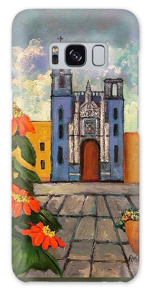 Blue Church   Iglesia Azul Galaxy Case