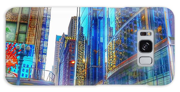 Galaxy Case featuring the photograph Blue Cityscape by Marianne Dow