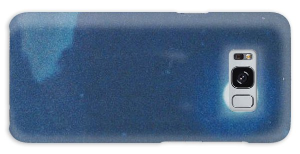 Blue Cloudy Moon Galaxy Case