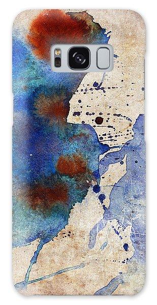 Blue Color Splash Galaxy Case