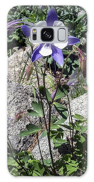 Blue Columbine Colorado Mountains Galaxy Case