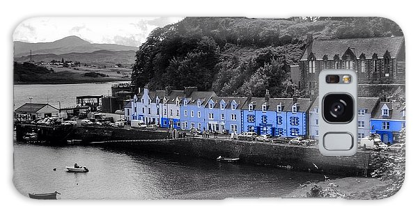 Blue Cottages At Portree Harbour 5 Galaxy Case