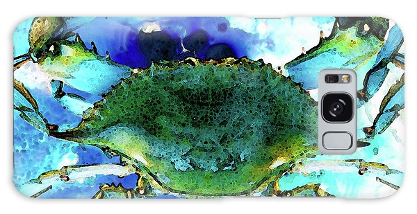 Florida Galaxy Case - Blue Crab - Abstract Seafood Painting by Sharon Cummings