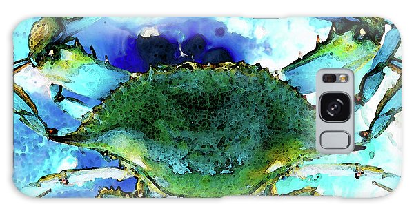 Blue Crab - Abstract Seafood Painting Galaxy Case