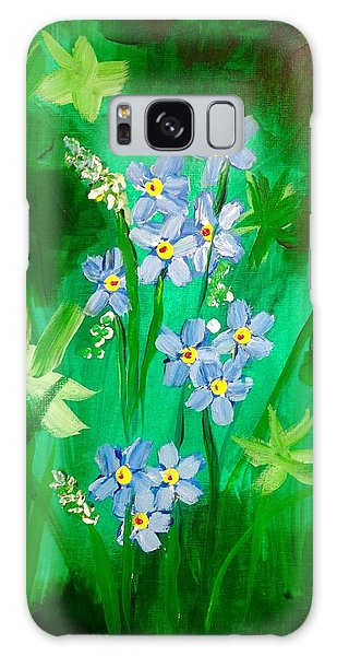 Blue Crocus Flowers Galaxy Case