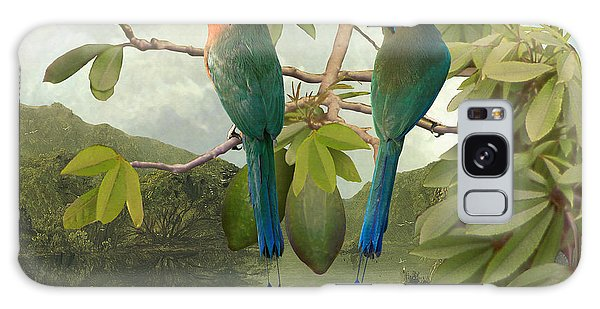 Blue-crowned Motmots In Kapok Tree Galaxy Case