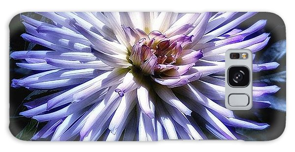 Galaxy Case featuring the photograph Blue Dahlia. Like A Winking  Star In by Mr Photojimsf