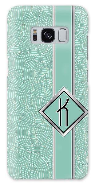 1920s Blue Deco Jazz Swing Monogram ...letter K Galaxy Case