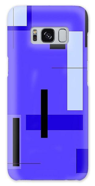 Blue Design 1 Vertical Galaxy Case