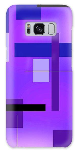Blue Design 2 Vertical  Galaxy Case