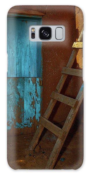 Blue Door And Ladder - Taos Pueblo Galaxy Case