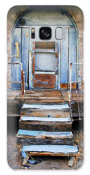 Blue Door Of Riley Galaxy Case