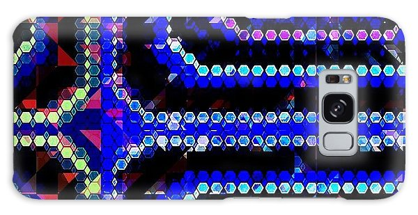 Galaxy Case - Blue Dot by Lisa Marie Towne