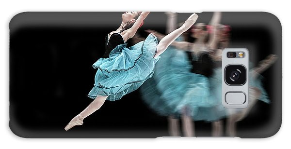 Galaxy Case featuring the photograph Blue Dress Dance by Dimitar Hristov