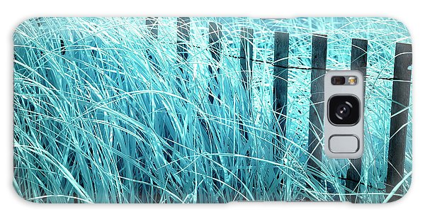 Blue Dune Grass Galaxy Case by John Rizzuto