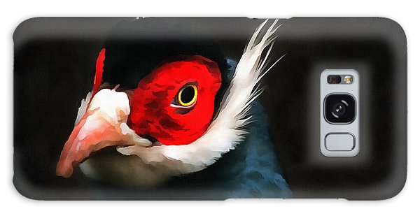 Blue Eared Pheasant Galaxy Case by Jack Torcello