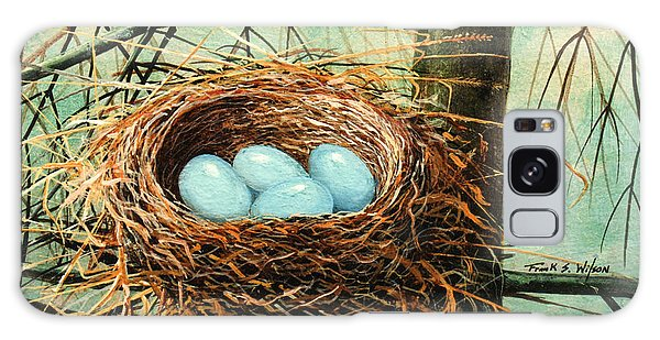 Blue Eggs In Nest Galaxy Case