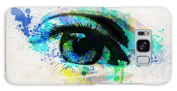 Light Paint Galaxy Case - Blue Eye Watercolor by Delphimages Photo Creations