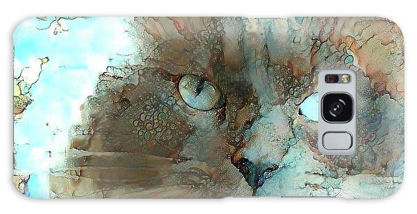Blue Eyed Persian Cat Watercolor Galaxy Case