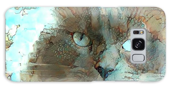 Blue Eyed Persian Cat Watercolor Galaxy Case