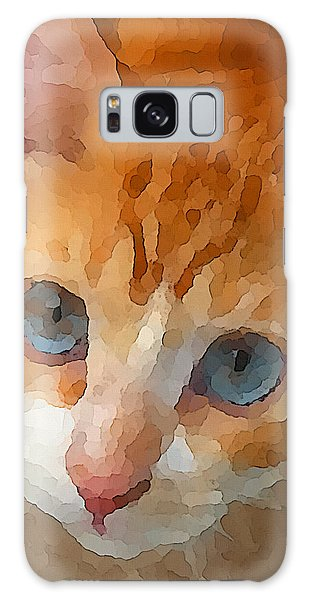 Galaxy Case featuring the digital art Blue Eyed Punk  by Shelli Fitzpatrick