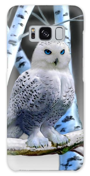 Blue-eyed Snow Owl Galaxy Case