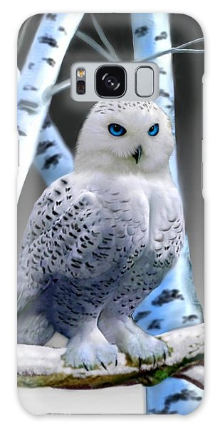 Blue-eyed Snow Owl Galaxy Case by Glenn Holbrook