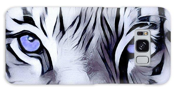 Blue Eyed Tiger Galaxy Case